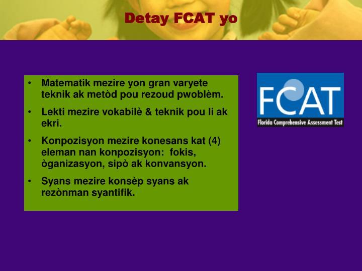 Detay FCAT yo