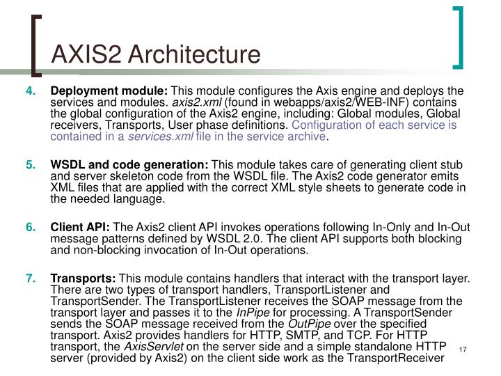 AXIS2 Architecture