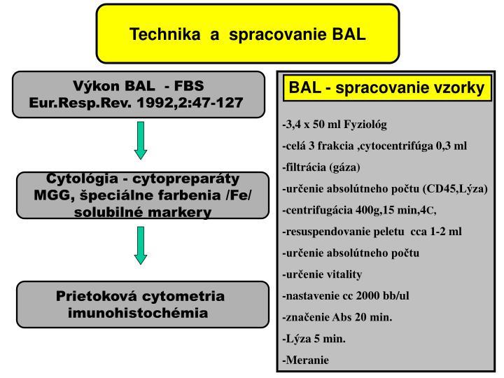 Technika  a  spracovanie BAL