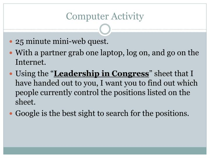 Computer Activity