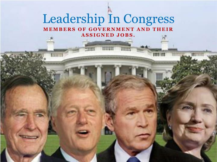 leadership in congress