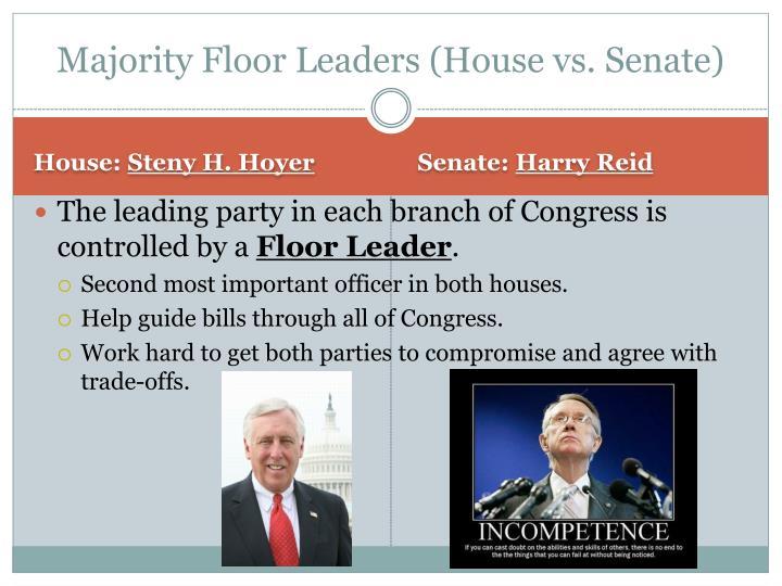 Majority Floor Leaders (House vs. Senate)