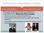 minority floor leaders house vs senate