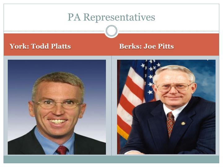 PA Representatives