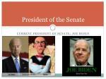 president of the senate1