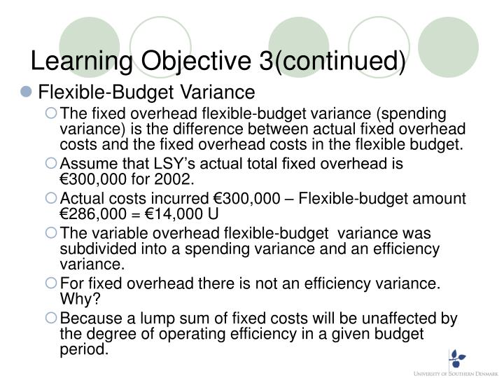 Learning Objective 3(continued)