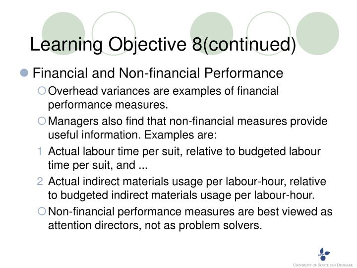 Learning Objective 8(continued)