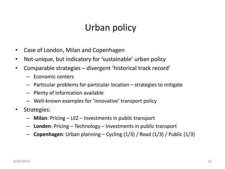 Urban policy