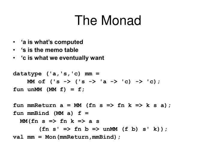 The Monad