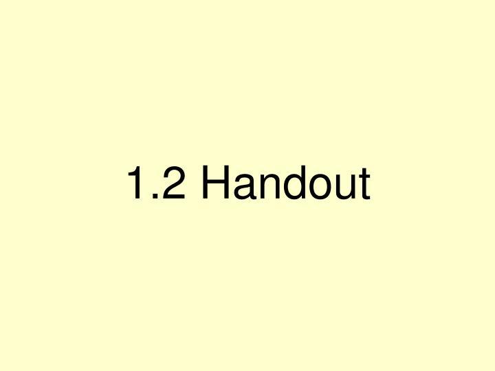 1.2 Handout