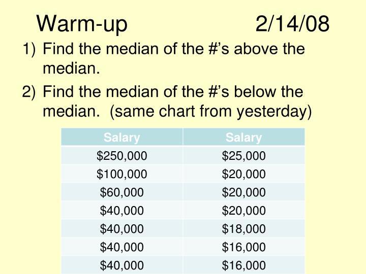Warm-up2/14/08
