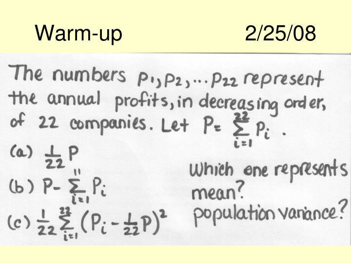 Warm-up2/25/08