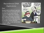 recombinant dna applications2