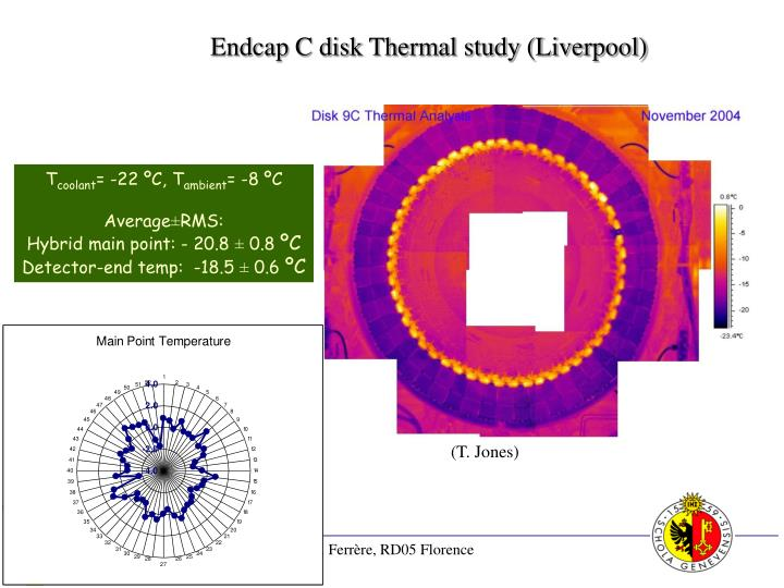 Endcap C disk Thermal study (Liverpool)