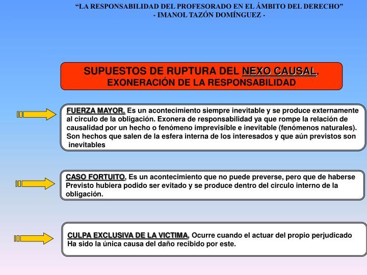 SUPUESTOS DE RUPTURA DEL