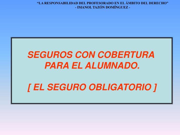 SEGUROS CON COBERTURA
