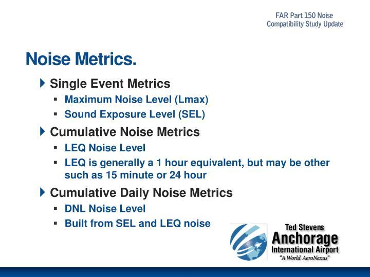 Noise Metrics.