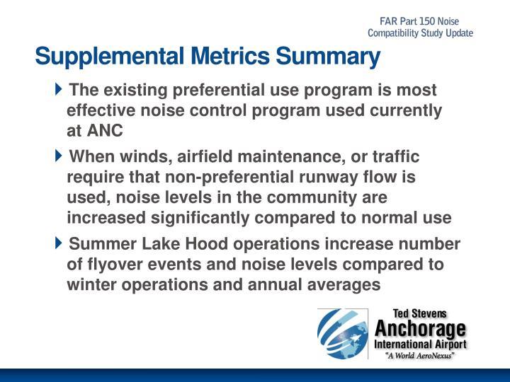 Supplemental Metrics Summary