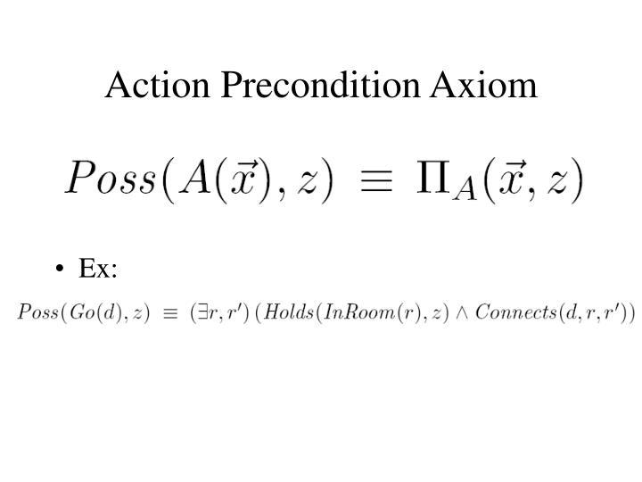 Action Precondition Axiom