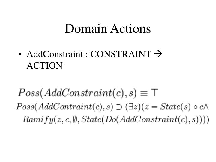 Domain Actions