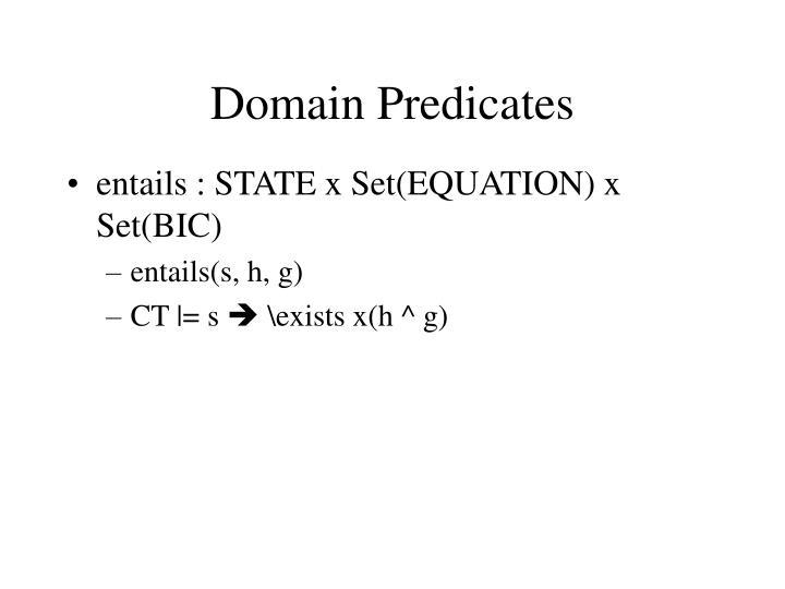 Domain Predicates