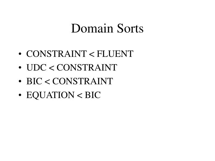Domain Sorts