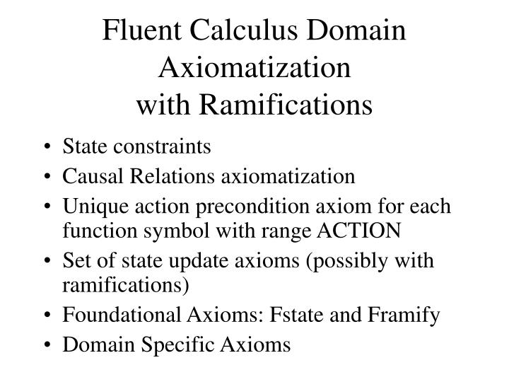 Fluent Calculus Domain Axiomatization