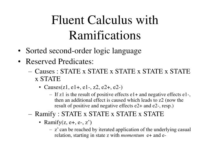 Fluent Calculus with Ramifications
