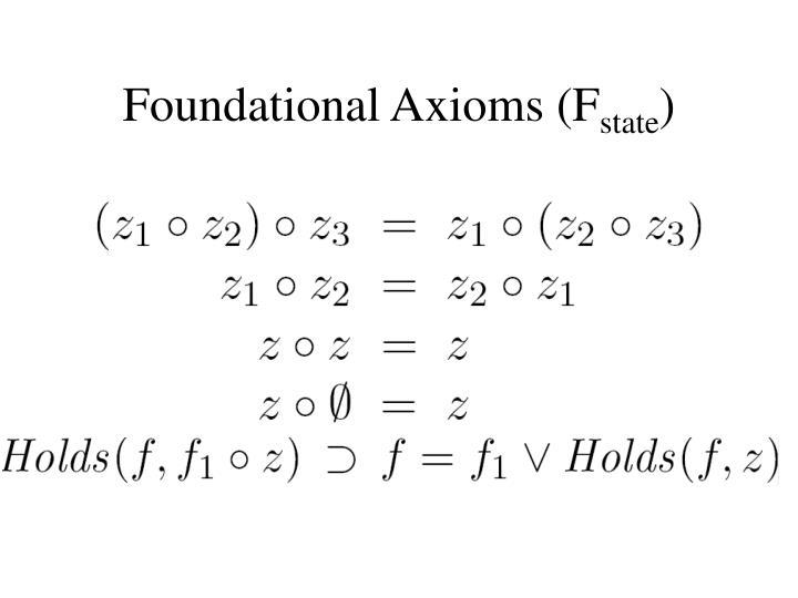 Foundational Axioms (F