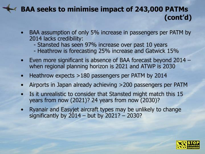 BAA seeks to minimise impact of 243,000 PATMs