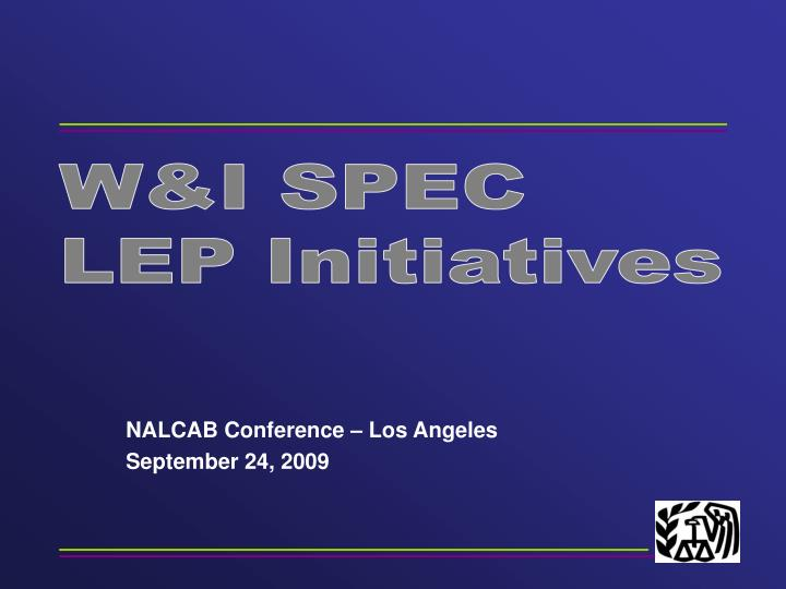 Nalcab conference los angeles september 24 2009