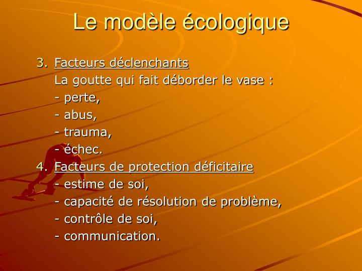 Le modèle écologique