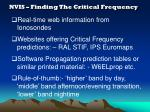 nvis finding the critical frequency