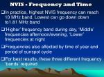 nvis frequency and time