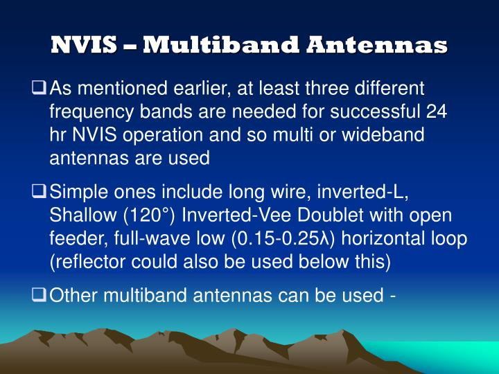 NVIS – Multiband Antennas