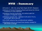 nvis summary