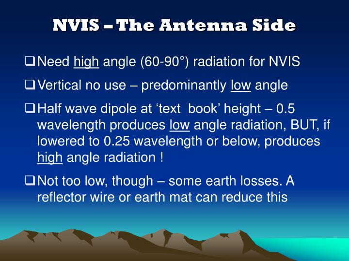 NVIS – The Antenna Side