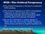 nvis the critical frequency