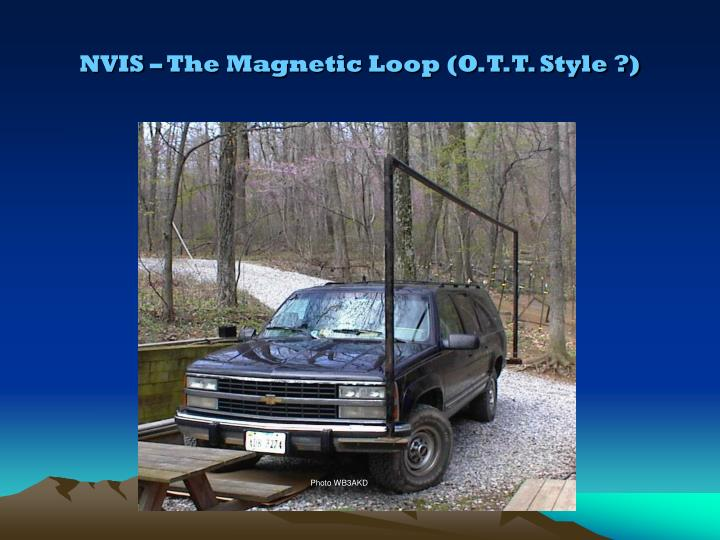 NVIS – The Magnetic Loop (O.T.T. Style ?)