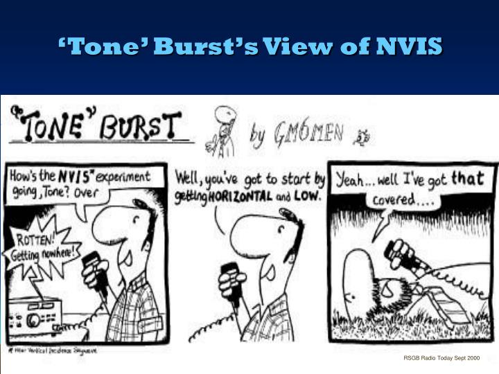 'Tone' Burst's View of NVIS