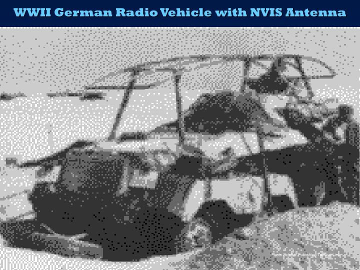 WWII German Radio Vehicle with NVIS Antenna