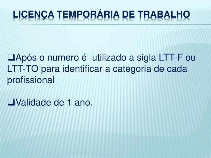 LICENÇA TEMPORÁRIA DE TRABALHO