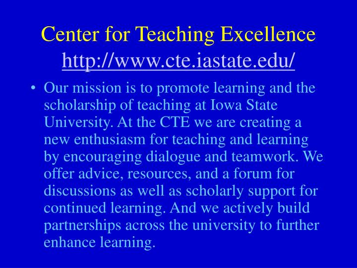 Center for Teaching Excellence