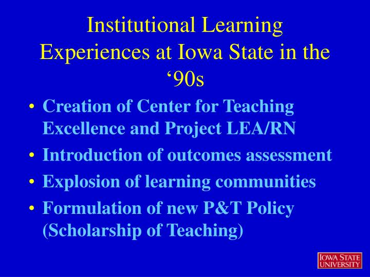 Creation of Center for Teaching Excellence and Project LEA/RN