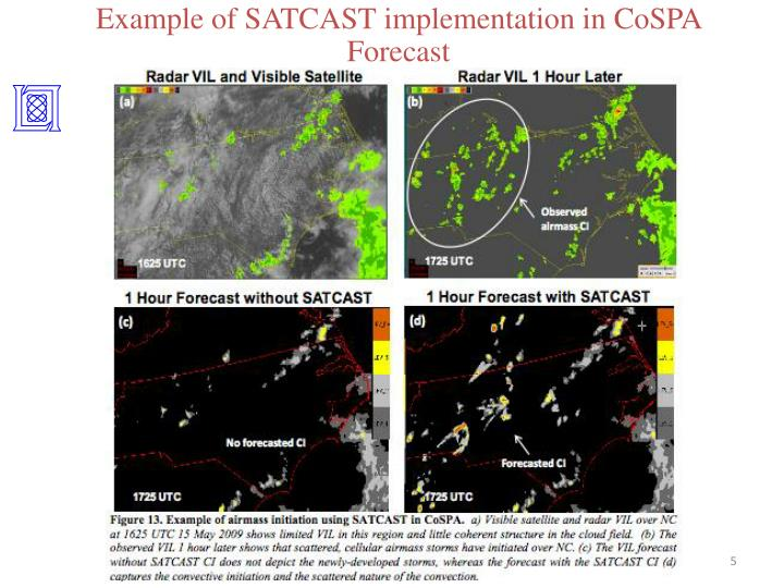 Example of SATCAST implementation in CoSPA Forecast