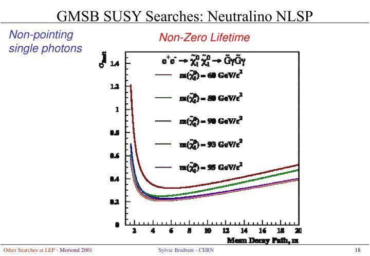 GMSB SUSY Searches: Neutralino NLSP