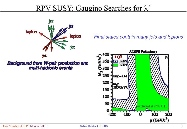RPV SUSY: Gaugino Searches for