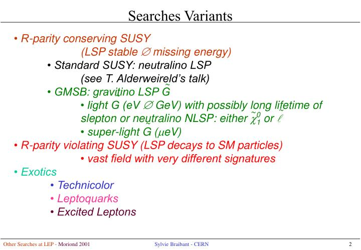 Searches Variants
