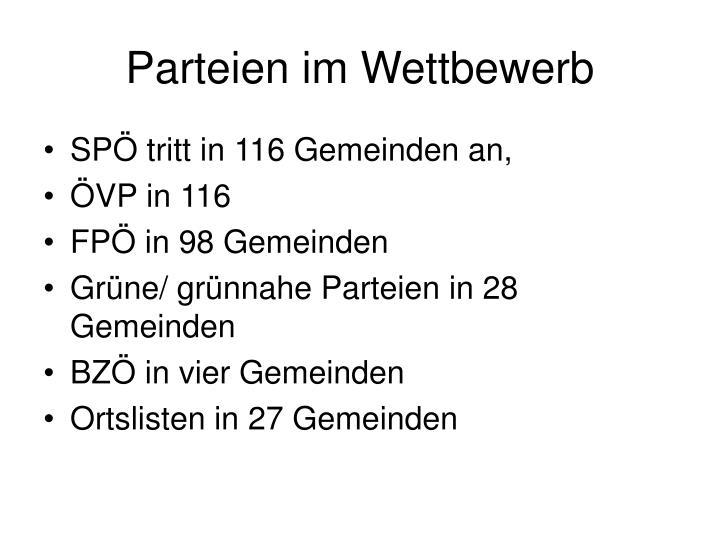 Parteien im Wettbewerb