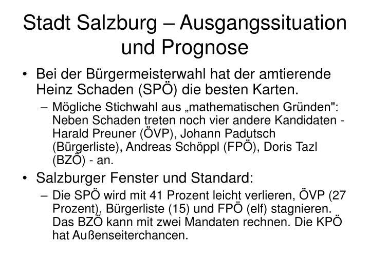 Stadt Salzburg – Ausgangssituation und Prognose